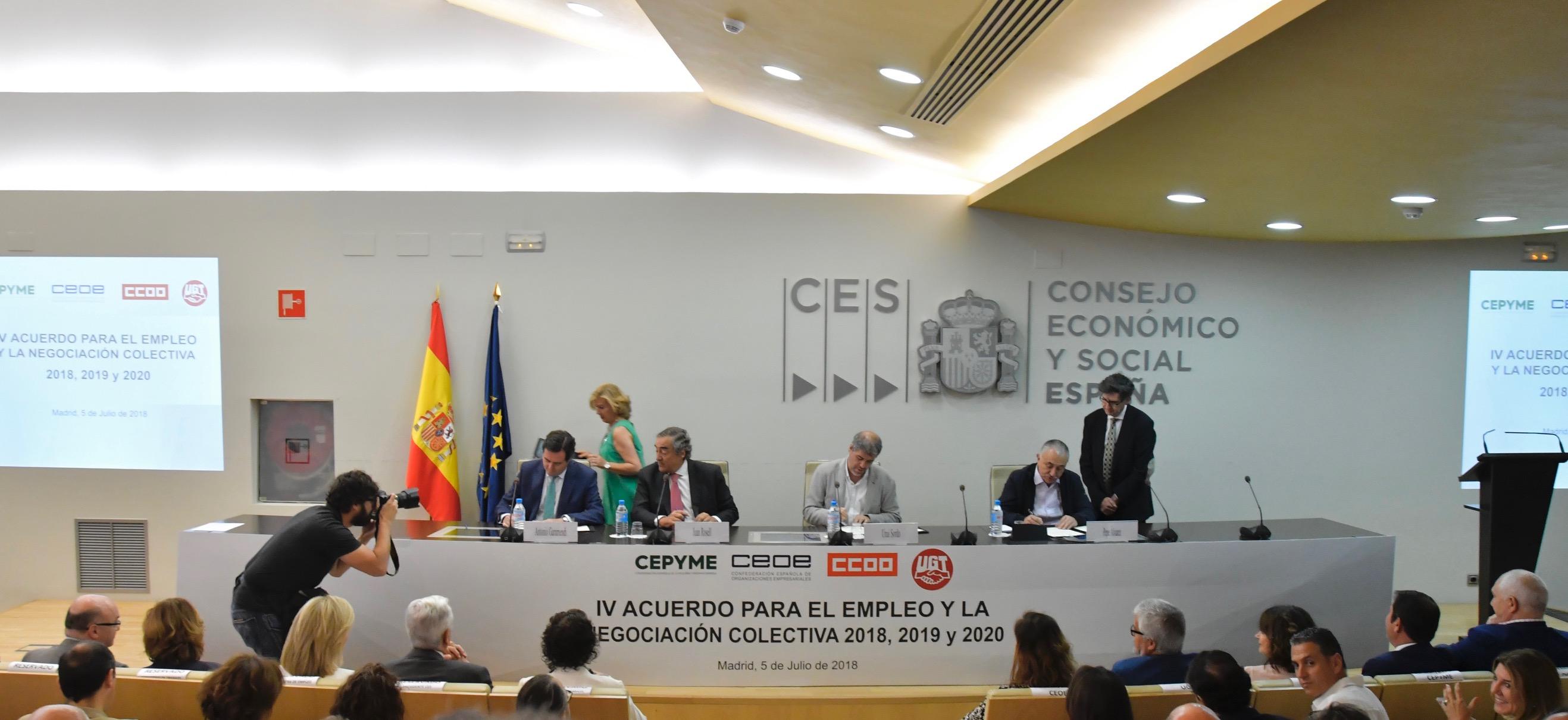 Calendario Laboral Madrid 2020 Ugt.Firmado El Iv Aenc 2018 2020 Ugt