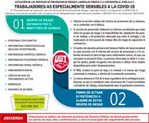 ACTUACIÓN DE LOS SERVICIOS DE PREVENCION DE RIESGOS LABORALES FRENTE A LA EXPOSICIÓN AL SARS-CoV-2TRABAJADORES/AS ESPECIALMENTE SENSIBLES A LA COVID-19
